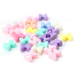 50 Lovely Pastel Bow Bows Bow Knot 14mm beads -  fast free shipment