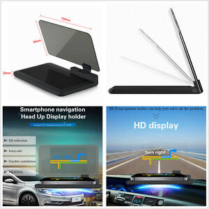 Universal Car HUD Head Up Display Projector Phone Navigation GPS Holder Non-slip