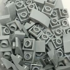 New - Lego 50 Light Bluish Grey - Slope, Curved 2 x 1 Inverted 24201