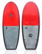 "Triple X ""The Half Pint"" 5' 0"" Epoxy Mini Simmons Style Surfboard/Red"