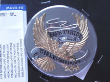 Harley Davidson Live to ride gold Medallion Emblem Sissybar Box Koffer 99027-90T