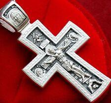 Authentic Fine Russian Jewelry Orthodox Crucifix Saint George Warrior Silver 925