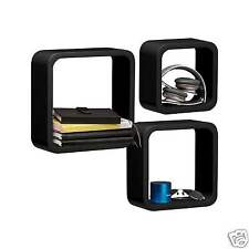 Wooden Floating Wall Cube Display Storage Shelf Cube Round & Square Corner Unit