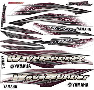 1999 Yamaha XL700 wave runner decals stickers Waverunner 700  graphic kit MAROON