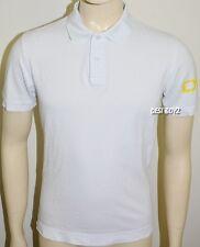 Mens DKNY Sleeve Logo Polo Shirt White - Size: Medium