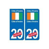 Côte d'Ivoire sticker numéro département au choix autocollant plaque immatricula