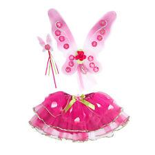 Cerise PINK Fairy Dress Up Set-Travis Sugar Plum Fairy Set-Varita alas Tutu