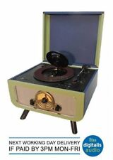 Steepletone Rico Blue Green 3 Speed Record Player, Hidden CD Player & Radio USB