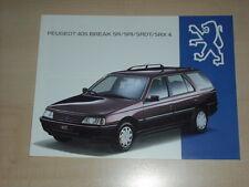 61337) Peugeot 405 Break SR SRi SRDT SRX4 Prospekt 07/1993