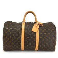 100% Authentic Louis Vuitton Monogram Keepall 50 Boston Travel Hand Bag /10758