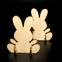 10Pcs Easter Rabbit Decor Wooden Ornaments Wood DIY Bunny Party Hanging Decor