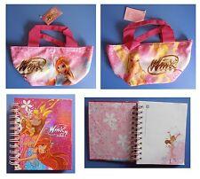 Winx Club, una borsa cm 30x22 e un diario rosa cm 9x10,5, streghe e fate