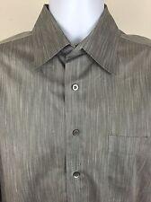 NORDSTROM Mens Gray Space Dye Chambray Shirt - Size 16 - 35 EUC