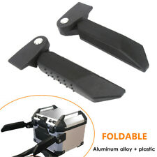 2×Motorcycle CNC Tailbox Handrail Of Folding Top Case Box Armrest Kit Universal
