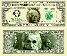 Albert Einstein Million Dollars $ USA Money Bill Science E=mc^2 Novelty Not Real