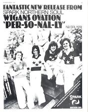 """BS161PCP SINGLE ADVERT 11X8"""" WIGANS OVATION : PER-SO-NAL-LY"""