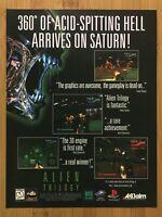 Alien Trilogy PS1 Sega Saturn 1996 Vintage Print Ad/Poster Official Promo Art