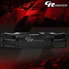 BLACK ABS FRONT BUMPER/HOOD VERTICAL GRILL COVER FOR 94-00 C10 C/K/TAHOE/BLAZER