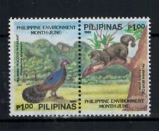 1989 Philippines Stamps - Sc#2007a  1p Environment Pair - MNH