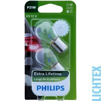 P21W PHILIPS LongLife EcoVision - Scheinwerfer Lampe - DUO-Pack-Box