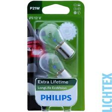 P21w PHILIPS Longlife EcoVision - 3-mal durata superiore-Duo-Pack