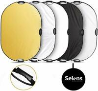 Selens 5-in-1 60x90CM Oval Reflector w/ Handle for Photography Outdoor Lighting
