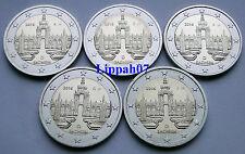 Duitsland speciale 2 euro 2016 Saksen A-D-F-G-J UNC