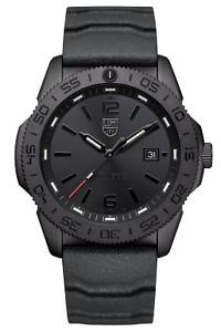 NEW Luminox 3121.BO Pacific Diver Black Dial Quartz Black Rubber Strap Watch