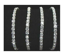 New Lots 60Pcs 1Row Stretchy Clear Crystal Rhinestone Bracelets
