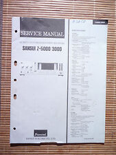 Service Manual pour sansui z-5000/z-3000, original