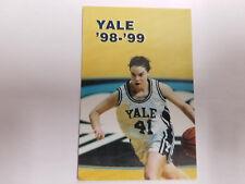 Yale University Bulldogs 1998/99 Women's Basketball Pocket Schedule - Fusco