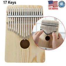 17 Key Kalimba Thumb Piano Finger Solid Wood Percussion Musical Instrument Gifts