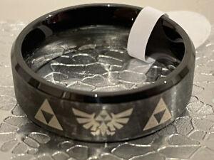 The Legend of Zelda Ring logo emblem symbol Nintendo game men women metal black
