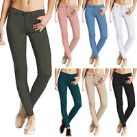 Womens Stretch Jeans Skinny Jeggings Ladies Casual Long Straight Pants Trousers