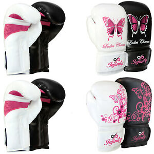 Girls Boxing Gloves Kids MMA Training Ladies Punching Mitts Children Sparring
