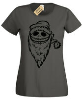 Jack Santa T-Shirt Womens skellington nightmare ladies christmas