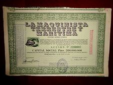 La Maquinista Terrestre y Maritima,Spain,share certificate 1952