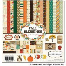 "CARTA BELLA ""FALL BLESSINGS"" 12X12 PAPER AUTUMN THANKSGIVING SCRAPJACK'S PLACE"