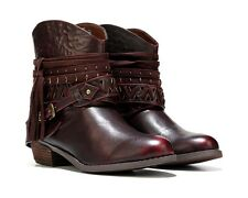 Not Rated Women's Naoni Bridle Western Ankle Bootie Wine Size 9M New