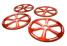 INTEGY RC Car C25935RED 89mm Setup Wheel (4) for 1/8 On-road GT, GT8, Touring