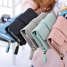 Women Lady Long Leather Trifold Card Wallet Clutch Checkbook Purse Handbag