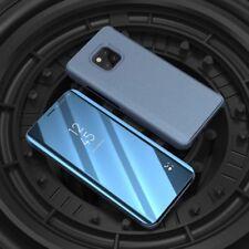 Para Samsung Galaxy A9 A920F Transparente Ver Smart Funda Azul Wake Up Nuevo