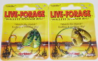Northland Tackle Live Forage Twin Spin Crawler Harnesses (Lot of 2-Gold Sh/Blue)