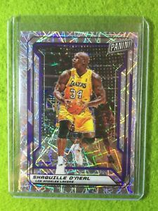SHAQUILLE O'NEAL PRIZM CARD JERSEY #34 LAKERS SP /99 REFRACTOR 2019 National VIP
