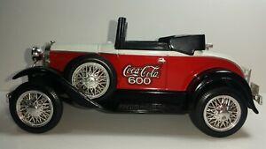 Liberty Classics 1993 Coca Cola 600 Roadster Model A car Coin Bank
