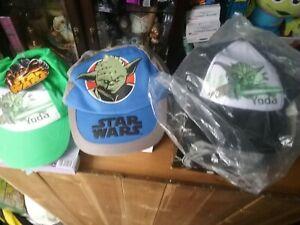 NEW Star Wars Yoda Kids Baseball Cap Child's Summer Sun Hat  x3