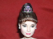 AUDREY HEPBURN BARBIE DOLL PINK PRINCESS TIARA CROWN Breakfast at Tiffany's