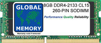 8GB (1 x 8GB) DDR4 2133MHz PC4-17000 260-PIN SODIMM MEMORY FOR LAPTOPS/NOTEBOOKS