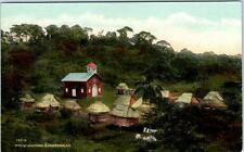 PANAMA   Native Settlement at site of former FORT CHAGRES  c1910s  Postcard