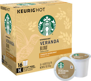Starbucks Veranda Blend Coffee 16 to 96 Count Keurig K cups Pick Any Quantity